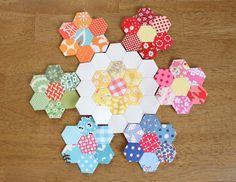 Ooohing and Aaahhhing~~ I need to start some hexagons! Diary of a Quilter - a quilt blog: Summer of the traveling Hexies