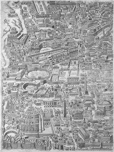 """Pirro Ligorio's """"Antiquae Urbis Romae Imago"""" (Image of the Ancient City of Rome), 1561 – SOCKS"""