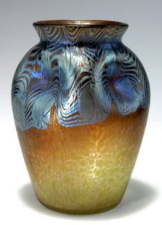 Loetz art glass vase, Argus pattern (PG 2/351), 1902