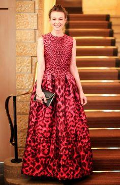 Hily Designs: Carey Mulligan vestida de Alexander McQueen en la gala del 10º Aniversario, Winter Weekend de ASMALLWORLD
