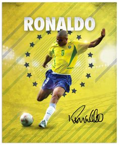 World Cup legends by Emilio Sansolini, via Behance #soccer #poster #ronaldo
