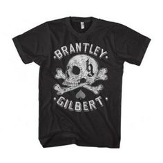 Brantley Gilbert Skull Tee - This vintage style Brantley Gilbert Skull T-Shirt is the perfect addition to your t-shirt collection.