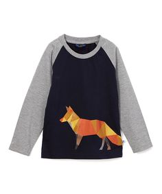 Look at this Navy Fox Raglan Tee - Infant & Toddler on #zulily today!