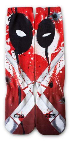 Deadpool CES Custom Socks, starting at only $19.99