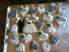 Wedding cookies navy/white