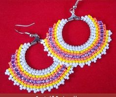 Circular Brick Stitch Earrings Jewelry Making Tutorial