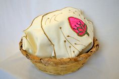 HandWoven Guatemalan Bread Basket with Cloth