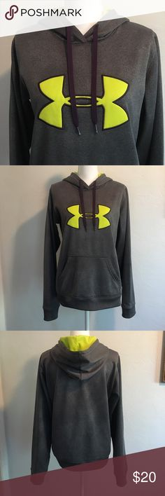 Under Armour hoodie Great shape. Colors are yellow, purple and gray. Under Armour Tops Sweatshirts & Hoodies