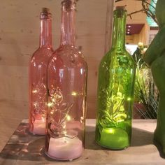 Led Licht, Bunt, Trends, Home Decor, Bottles, Decorating Bottles, Easter Activities, Decoration Home, Room Decor