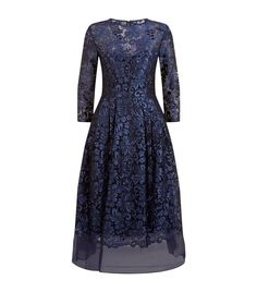 Ted Baker Balini Floral Embroidered Dress Dark Blue available to buy at Harrods. Shop designer dresses online and earn Rewards points.
