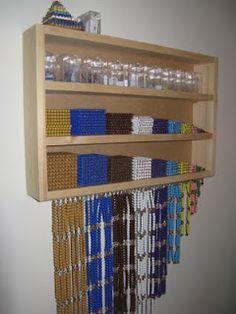 diy Montessori Bead Cabinet - compact version