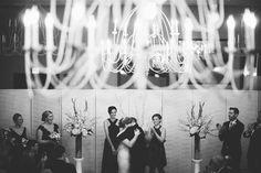 Alexandra Roberts Photography | #AldenCastle #LongwoodVenues #BostonWedding #Boston #Wedding #Bride #Groom #FirstKiss #WinterWedding #Ceremony #BlackandWhite #WeddingPhotography http://longwoodevents.com http://alexandraroberts.com