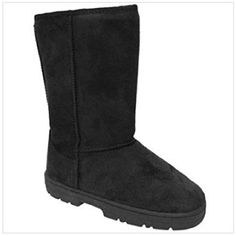 Women's Lug Sole Microsuede Boots, Black, 7 >>> Check out this great product. (This is an affiliate link) #Outdoor