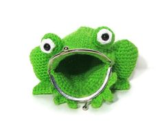 Items similar to Frog Coin Purse Crochet - Amigurumi Frog Purse - Frog Bag - Frog Pouch - Coin bag - Animal Bag - Amphibian - Frog Lover - Childrens Toys on Etsy Crochet Frog, Animal Bag, Sock Animals, Coin Bag, Animal Fashion, Handmade Baby, Handmade Accessories, Crochet Projects, Unique Gifts