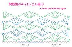 Crochet Scarf Diagram, Crochet Stitches Chart, Crochet Shell Stitch, Granny Square Crochet Pattern, Crochet Squares, Crochet Motif, Crochet Designs, Stitch Patterns, Sewing Patterns