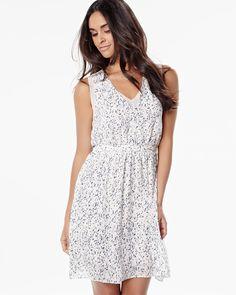 RW&CO.   Sleeveless crepe dress with chiffon   Summer 2016