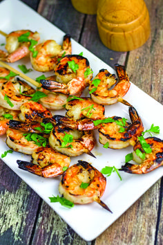 Grilled Shrimp Skewers with Pineapple-Cilantro Marinade // Bright, fresh, ideal for summer barbecues! Serve with rice, grilled veggies, or a crisp green salad.