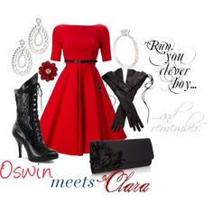 """Modest doesn't mean frumpy. Dressing with Dignity! http://amzn.to/1qeVHv9  """"Oswin Meets Clara"""" by drea538 on Polyvore"""