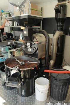 Coffee Roasting Machine on site at 53 Aberdeen St, Northbridge