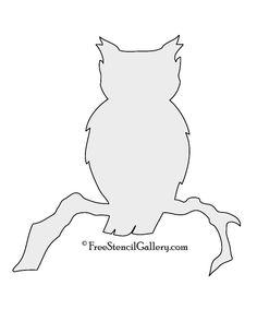 Owl Silhouette Stencil | Free Stencil Gallery                                                                                                                                                                                 More