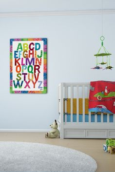 Alphabet Letters - Art on canvas. What could be better to decorate a child's bedroom?