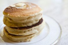 a recipe given to president eisenhower by queen elizabeth ii for drop scones, also known as scottish pancakes. Drop Scones Recipes, Breakfast Recipes, Scotch Pancakes, Scottish Recipes, Simply Recipes, Sweet Recipes, Cookies Et Biscuits, Pancake, Sweets
