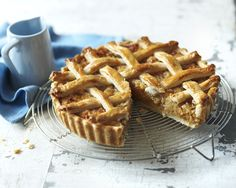 Mary Berry's treacle tart with woven lattice top.