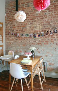 clothes pins hanging photos