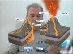 ▶ Realidad Aumentada: Aplicación en la Educación.Estructura de un Volcán - YouTube