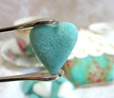 6 Dozen Tiffany Blue and White Heart Shaped by WishingwellArt, $14.00