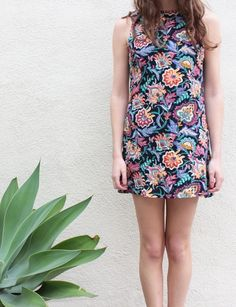 90s outfit idea - cute vintage floral dress - $49