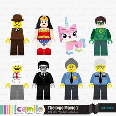 The Lego Movie 2 Digital Clipart Por IcemiloClipart En Etsy