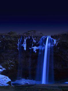 waterfalls at night | Flickr - Photo Sharing!