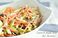 Carrot and apple slaw.