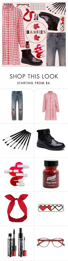 """""""Cause I am the Fire ♥"""" by av-anul ❤ liked on Polyvore featuring Leal Daccarett, Mamonde, Graftobian, Lulu in the Sky, MAC Cosmetics and EyeBuyDirect.com"""