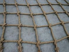 "Climbing Net DIY :: Would love to have adult playground equipment outdoors! More like an outdoor ""gym"". Ninja Warrior Course, American Ninja Warrior, Net Making, Backyard Obstacle Course, Cargo Net, How To Make Rope, Outdoor Gym, Climbing Rope, Climbing Holds"