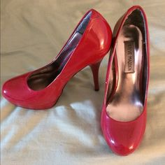 Red heels! 4 inch Steve Madden heels, worn only about 5 times total. Fits true to size Steve Madden Shoes Heels