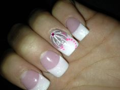 My Nails Love Em White Glitter Tips With Ring Finger Design