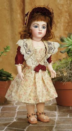 A Matter of Circumstance: 31 Gorgeous French Bisque Bebe by Leon Casimir Bru, Size 4, in Exquisite Costume