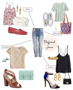 Spring and summer outfits to wear with boyfriend jeans
