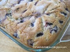 ♥ Blueberry Zest Breakfast Cake | Blueberries