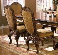 Two Saint Charles Collection Solid Wood Side Chairs by Coaster Home Furnishings. Save 79 Off!. $384.95. Some assembly may be required. Please see product details.. Set of 2 European Style Saint Charles Collection Dining Side Chair /Chairs This is a set of 2 dining side chairs from the Saint Charles collection. In the grand European tradition of elegance, Saint Charles collection is crafted from Ash Burl veneers and selected solid hardwoods. The seat cushions are made of gold patterned…