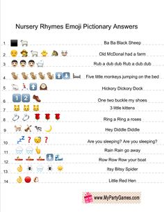 Today I made this modern and original game called Free Printable Baby Shower Nursery Rhymes Emoji Quiz. These emoji pictionary games are very popular these days Baby Shower Quiz, Virtual Baby Shower, Baby Shower Parties, Baby Boy Shower, Baby Shower Gifts, Baby Showers, Baby Quiz, Free Baby Shower Printables, Free Baby Shower Games