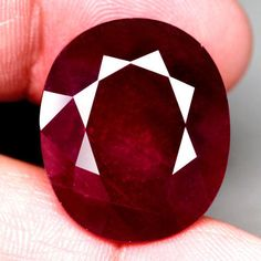 TITANIC! 32.93CT.22.9x19.4mm. OVAL FACET TOP BLOOD RED Natural Ruby MADAGASCAR #GEMNATURAL