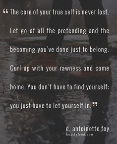 You Just Have to Let Yourself In | A post on handling your self-worth with care, at letwhylead.com