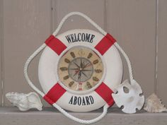 Vintage Nautical Life Preserver Clock on Etsy, $26.99