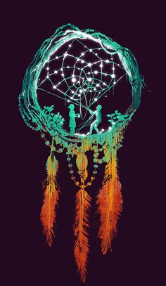 Dreamcatcher print....i would get this tattooed....