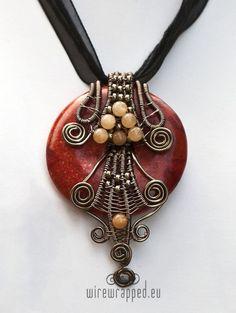Coral donut pendant ~ so beautiful