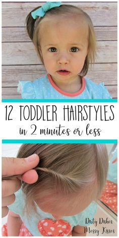 12 Toddler Hair Styles – Toddler girl hairstyles ideas that are easy, cute and fast.