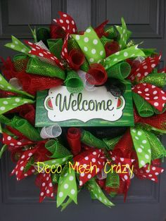Watermelon Welcome Deco Mesh Wreath featuring a hand-painted sign from Diamond Dust Designs-  www.facebook.com/decomeshcrazy www.decomeshcrazy.com www.facebook.com/diamonddustdesigns